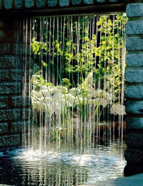 rain curtain water features gardens water features