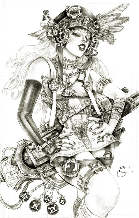steampunk lady blackhawk zinda blake by dubugomdori on