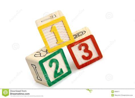 numbered building blocks stock image image  balanced