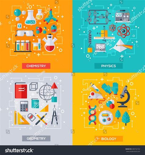 design art science flat design vector illustration concepts education