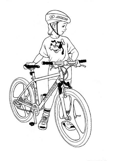Раскраска Велосипед - детские раскраски распечатать