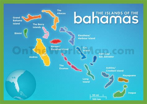 the bahamas map the islands of the bahamas map