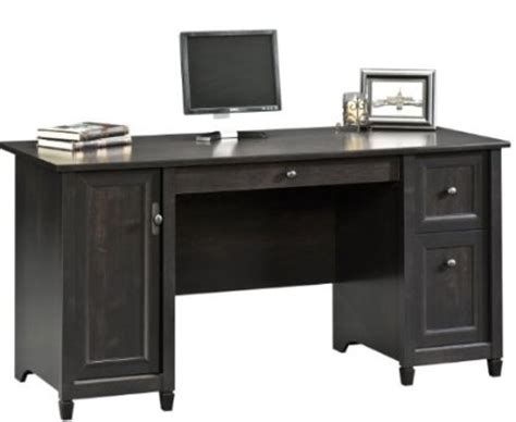sauder edge water executive desk estate black home
