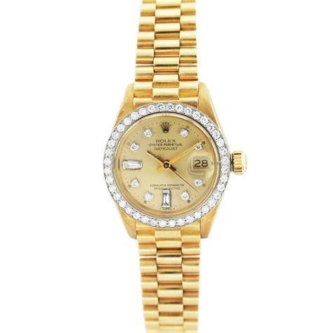rolex datejust 6917 presidential 18k gold and