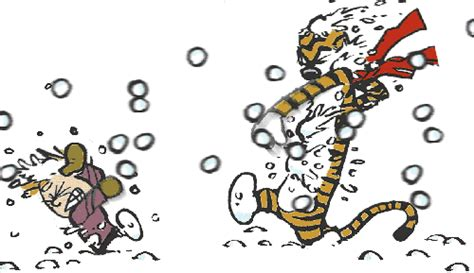 calvin and hobbes clip art image calvin and hobbes snowballs everywhere gif