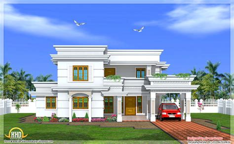 2 bedroom contemporary house plans modern two story 4 bedroom house 2666 sq ft kerala home design and floor plans