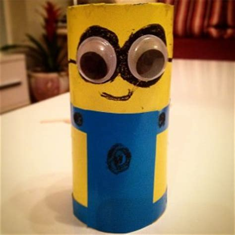 Minion Toilet Paper Roll Craft - minions craft idea for crafts and worksheets for