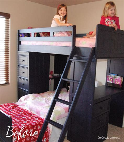 bunk bed with fort who knew that this annoying space could turn into such a