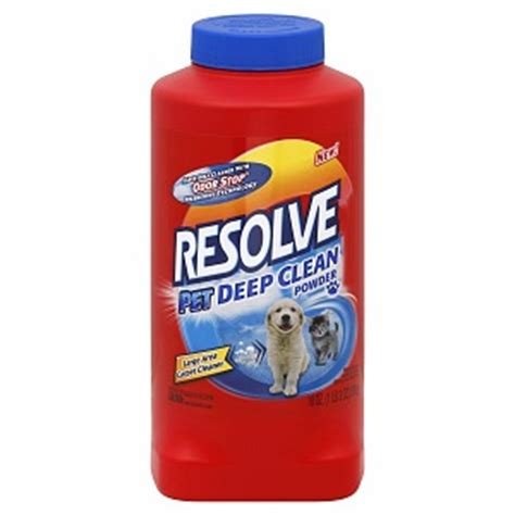 resolve upholstery resolve pet deep clean powder large area carpet cleaner