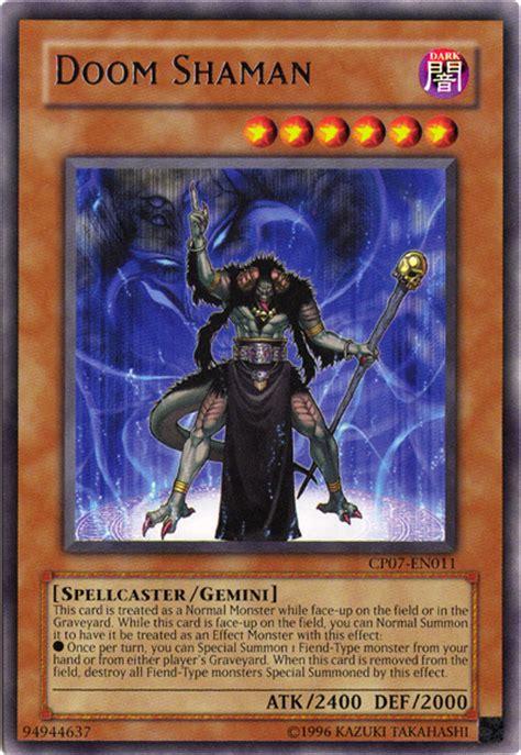 level 1 shaman deck individual card profile doom shaman yugioh