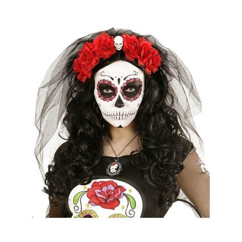 imagenes de calaveras rojas velo negro con rosas rojas calavera mejicana comprar