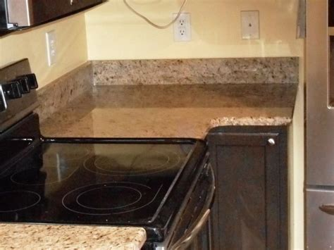 anyone with a 2 inch backsplash or no backsplash kitchen giallo ornamental granite 4 24 13 granite countertops