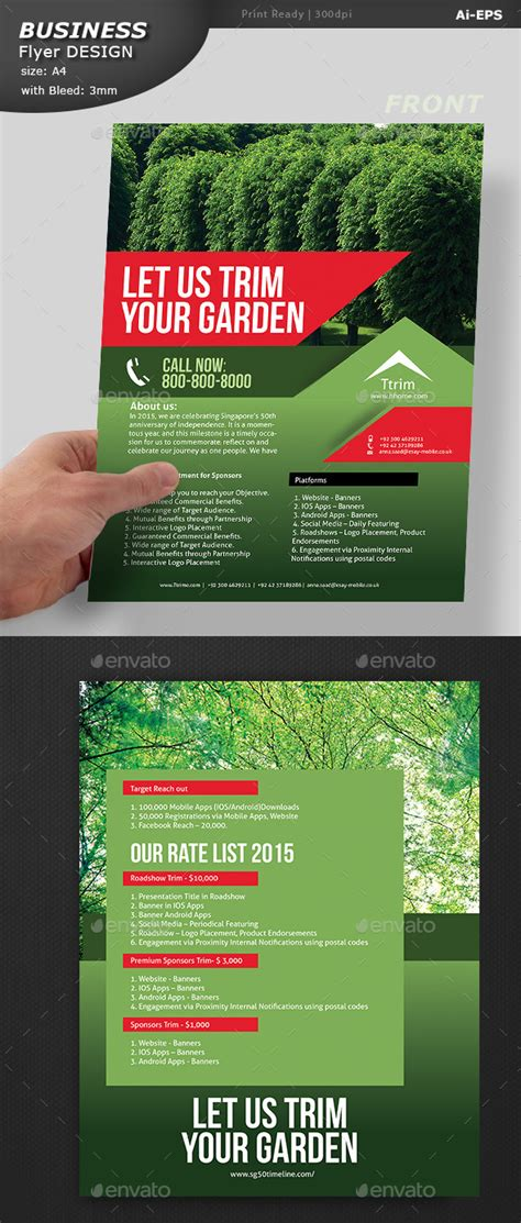 graphicriver lawn service business card template lawn care service flyer template 187 tinkytyler org stock
