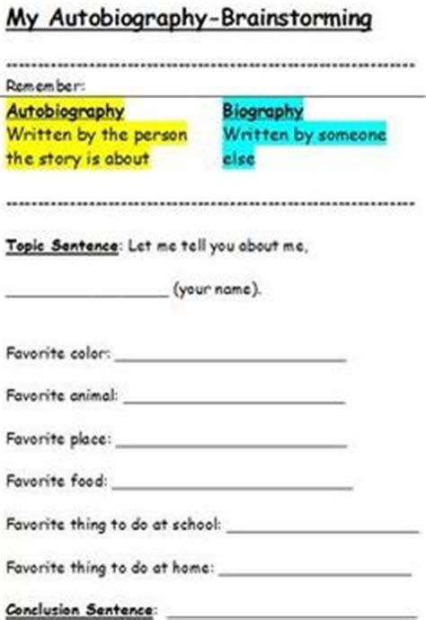 biography exles for elementary students 1000 images about autobiographies on pinterest