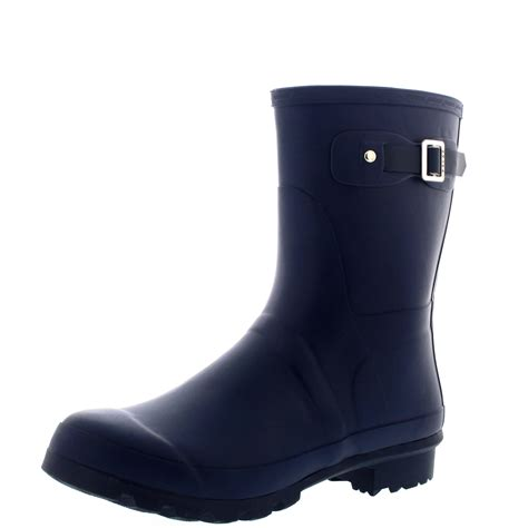mens ankle rubber boots mens original plain rubber fishing ankle high