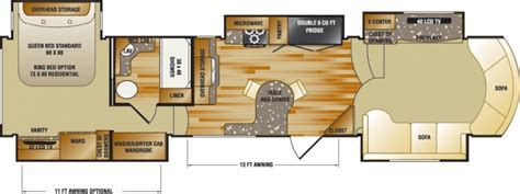 motorhome plans rv floor plans cardinal and montana floor plans