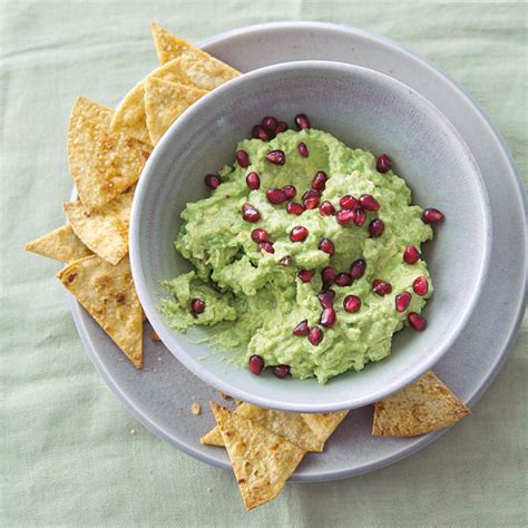 Pomegranate Guacamole with Baked Chips | Williams-Sonoma Guacamole And Tortilla Chips Healthy