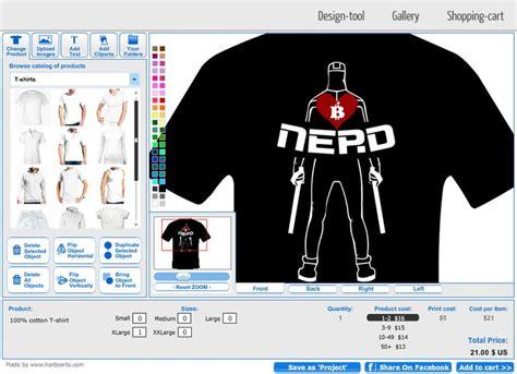 T Shirt Design Software bitcoin nerd t shirt template designed using online t