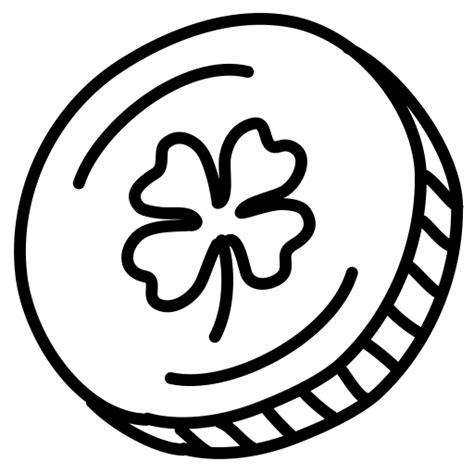 Coin Outline Clip by Shamrock Clover Lucky Gold Money Coin Icon