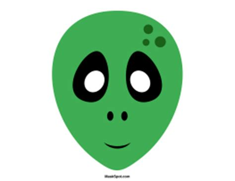 printable alien mask template mask templates