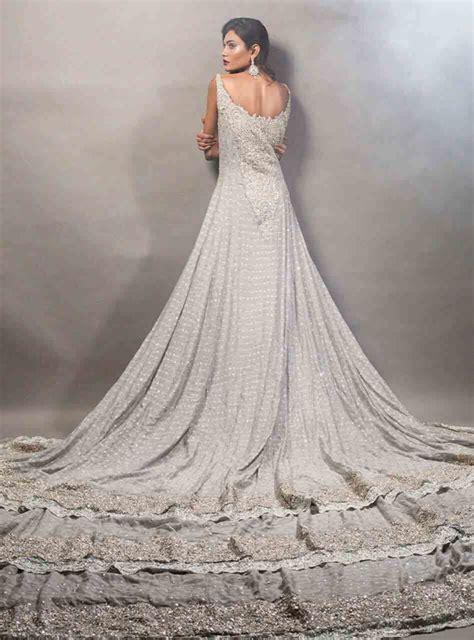 pakistani bridal long tail maxi gown dresses  fashioneven