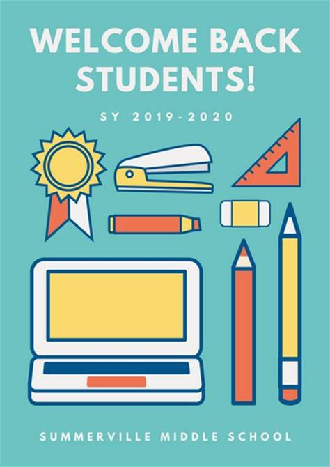 Customize 561 School Poster Templates Online Canva School Poster Templates