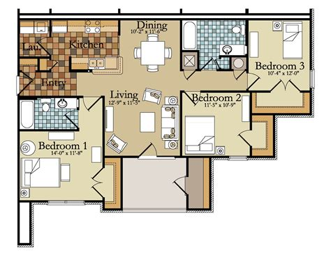3 bedroom unit floor plans 100 apartment unit floor plans three bedroom b units the glen the buffalo area u0027s