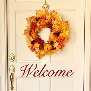 Welcome Wall Stickers Welcome Wall Decal Door Decals Entryway Wall Decor By Luxeloft
