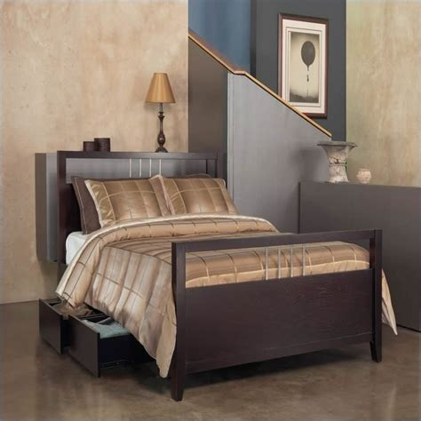 Modus Furniture Nevis Platform Storage Bed In Espresso 3 Modus Bedroom Furniture