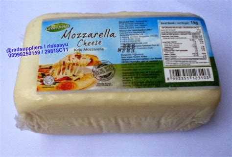 Keju Mozzarella 1kg Keju Mozarela Keju Mozarella Keju Mozzarela rad supplier food and beverage mozzarella cheese keju mozzarella greenfields 1kg