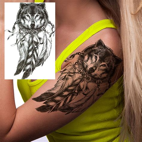 temporary metallic tattoos wolf catcher temporary temporary