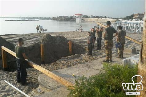 pedane disabili trani spiaggia di colonna l esercito costruisce la