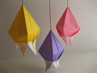 Origami Bells - origami origami harebell