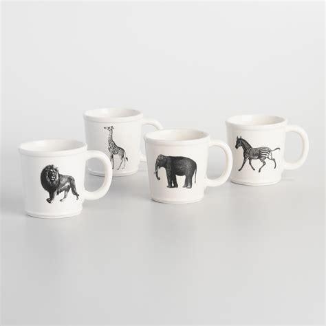 animal mugs animal inspiration mugs set of 4 world market