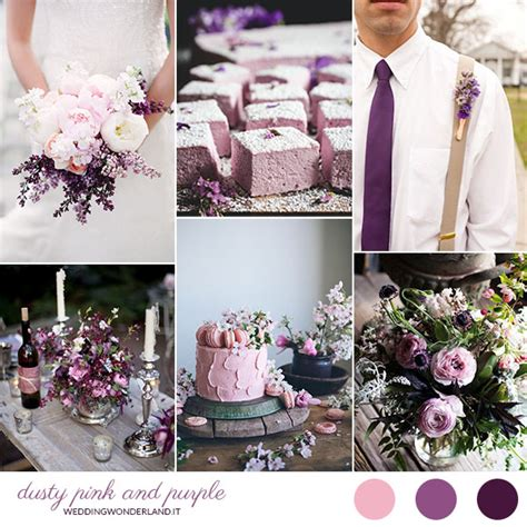 un fiore violetto inspiration board viola e rosa cipria wedding