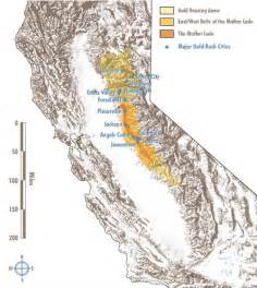 california gold areas and gold cities
