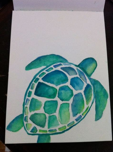 watercolor tattoo wroc aw 1000 ideas about turtle painting on sea