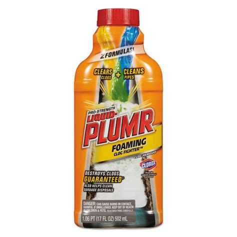 BettyMills: Liquid Plumber® Foaming Pipe Snake Clog Remover   Clorox Professional CLO00216