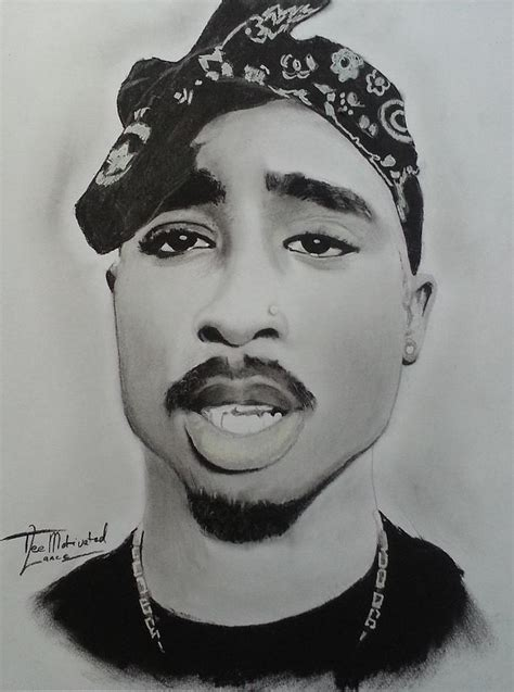 Drawing 2pac by Tupac Charcoal Drawing Drawing By Lance Freeman