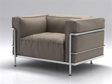 Lc3 Armchair by Lc3 Armchair 3d Model Cassina