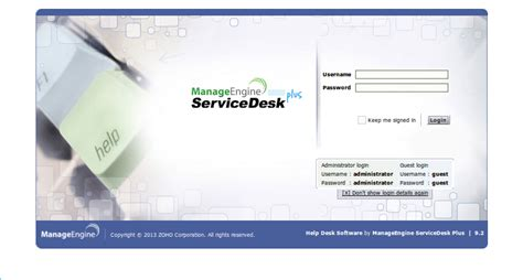 Www Desk Login by Install And Configure Manageengine Servicedesk Plus On