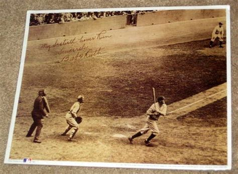 ruth 60th home run 11 x 14 sepia photo print 60 runs
