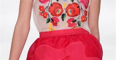 Vivia Top Pink V05 style viva mexico pink skirt mexican embroidered top viva la chica m 233 xicana