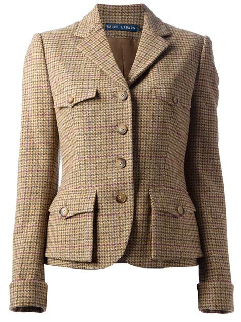 Lyst - Ralph Lauren Jess Tweed Jacket in Brown International Trademark Suit