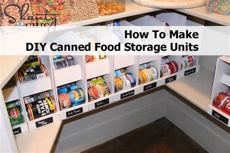 Food Pantry Organizer Ideas How To Make Diy Canned Food Storage Units