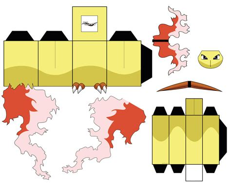Moltres Papercraft - moltres pt1 by jetpaper on deviantart