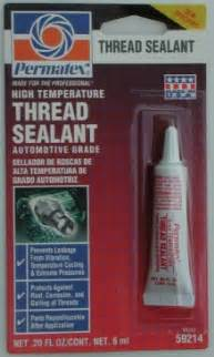 Fuel System Thread Sealant Stealth 316 Fuel Pressure Regulator Upgrade