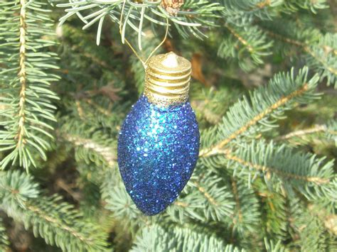 light bulb ornament christmas ornament by carriescraftstore