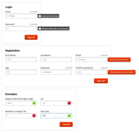 html5 pattern validation exle 8 powerful jquery plugins for client side form validation