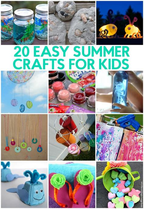 easy crafts for summer 20 easy summer crafts for a craft in your